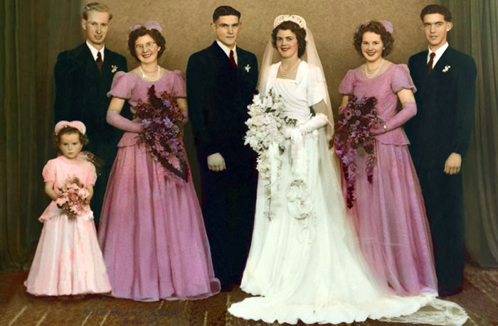 digital photo restoration wedding